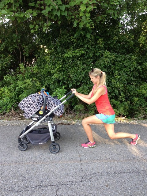 Stroller Workout - Lunges