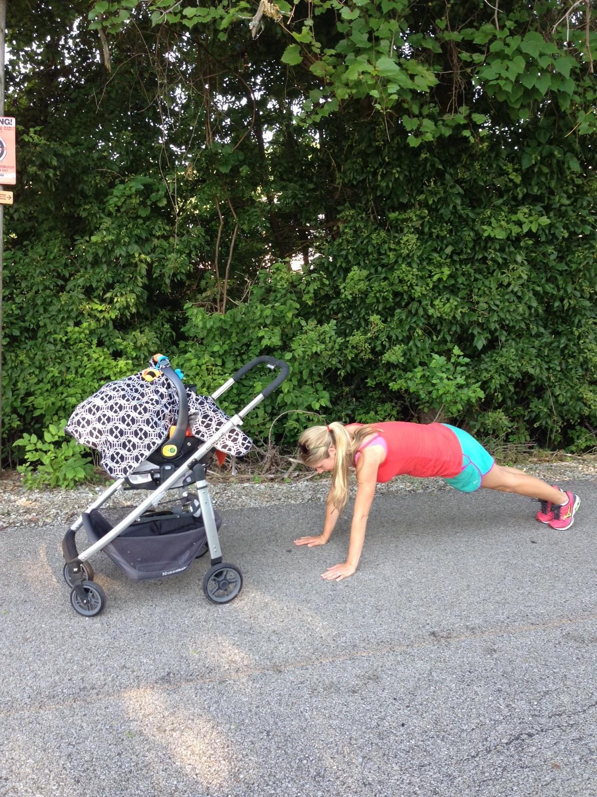 Stroller Workout - Pushups