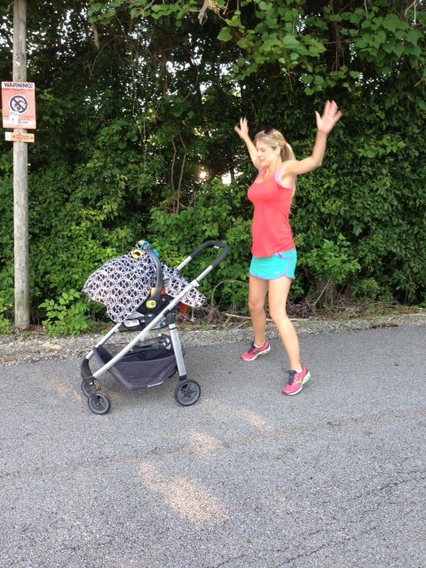 Stroller Workout - Jumping jacks